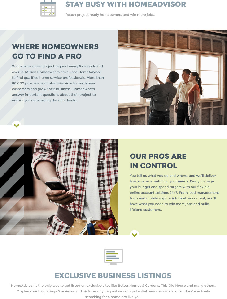 Homeadvisor reach more homeowners for Home advisor